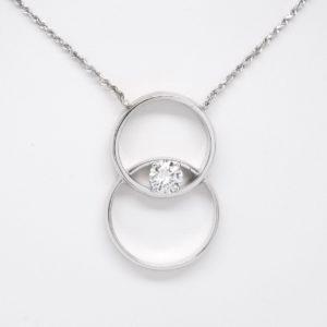 14k White Gold Diamond Wedding Band Remembrance Pendant-0