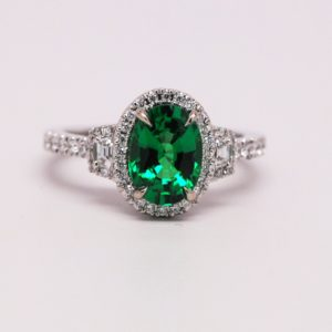Tsavorite Engagement Ring - 2