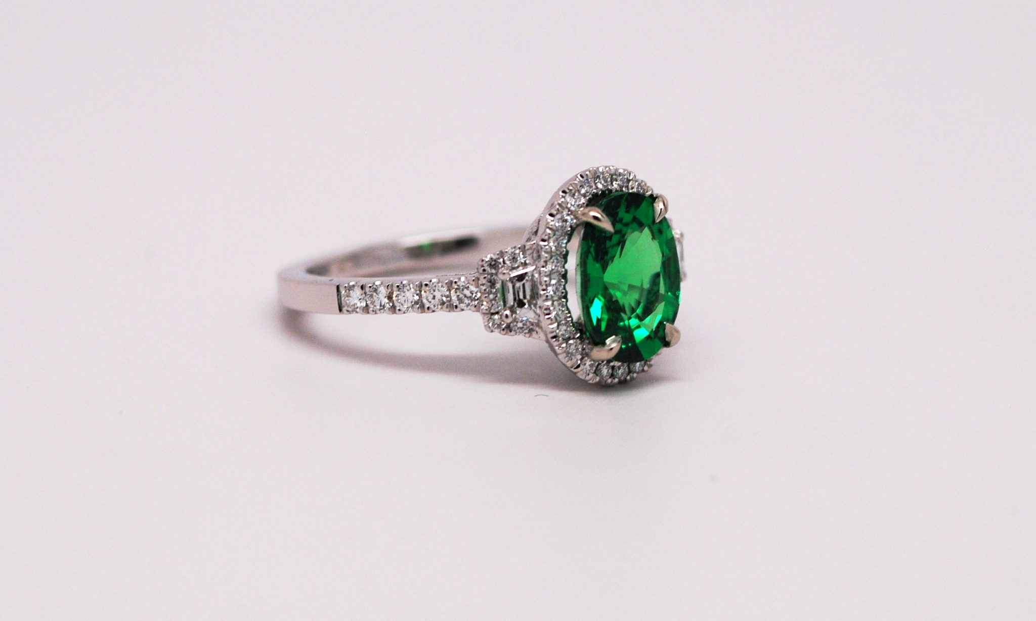 emerald green fullxfull gemstone diamond tourmaline listing flower halo il rings engagement zoom