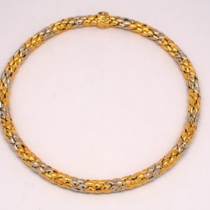 """Chimento 18k White & Yellow Two-Tone Gold """"Stretch"""" Collection Necklace"""