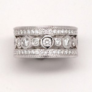 2ctw Eternity Band With Round Diamonds 14k White Gold
