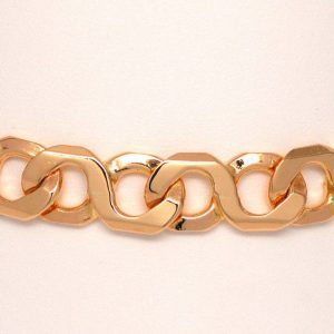 Men's Infinity Link Bracelet 14k Yellow Gold
