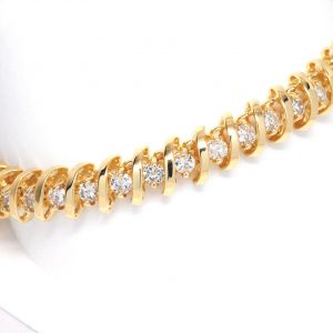 4ctw Round Diamond Tennis Bracelet 14k Yellow Gold