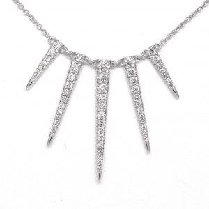 Gabriel & Co. Round Diamond Kaslique Necklace NK4727W45JJ