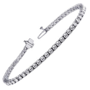 6.29ctw Round Diamond Tennis Bracelet 14k White Gold