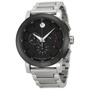 0606792 Movado Museum Chronograph Grey Dial Stainless Steel Men's Watch