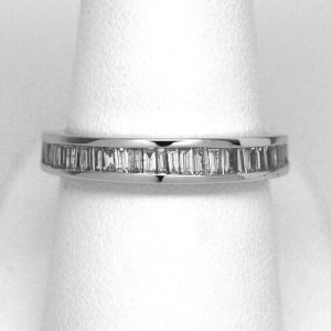 14k White Gold 0.50ctw Baguette Diamond Band