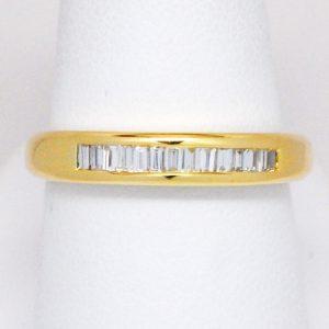 18k Yellow Gold Baguette Diamond Band