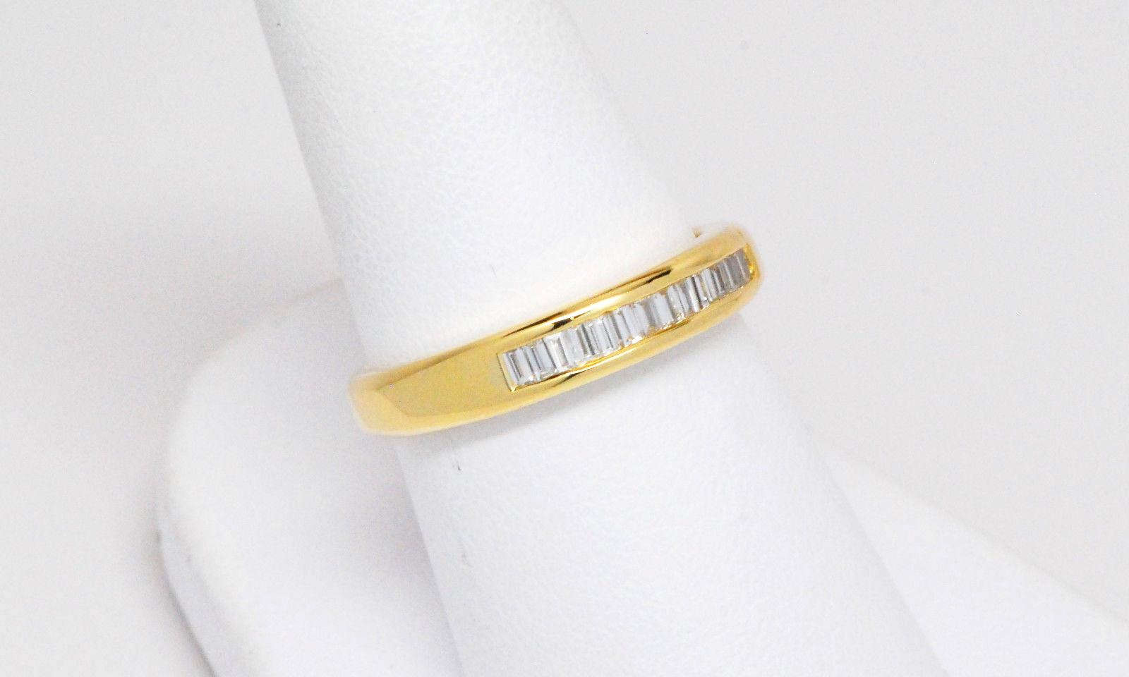 1 3ct Baguette Diamond Wedding Band 18k Yellow Gold