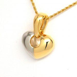 Chimento 18k Two-Tone Puffed Heart Pendant