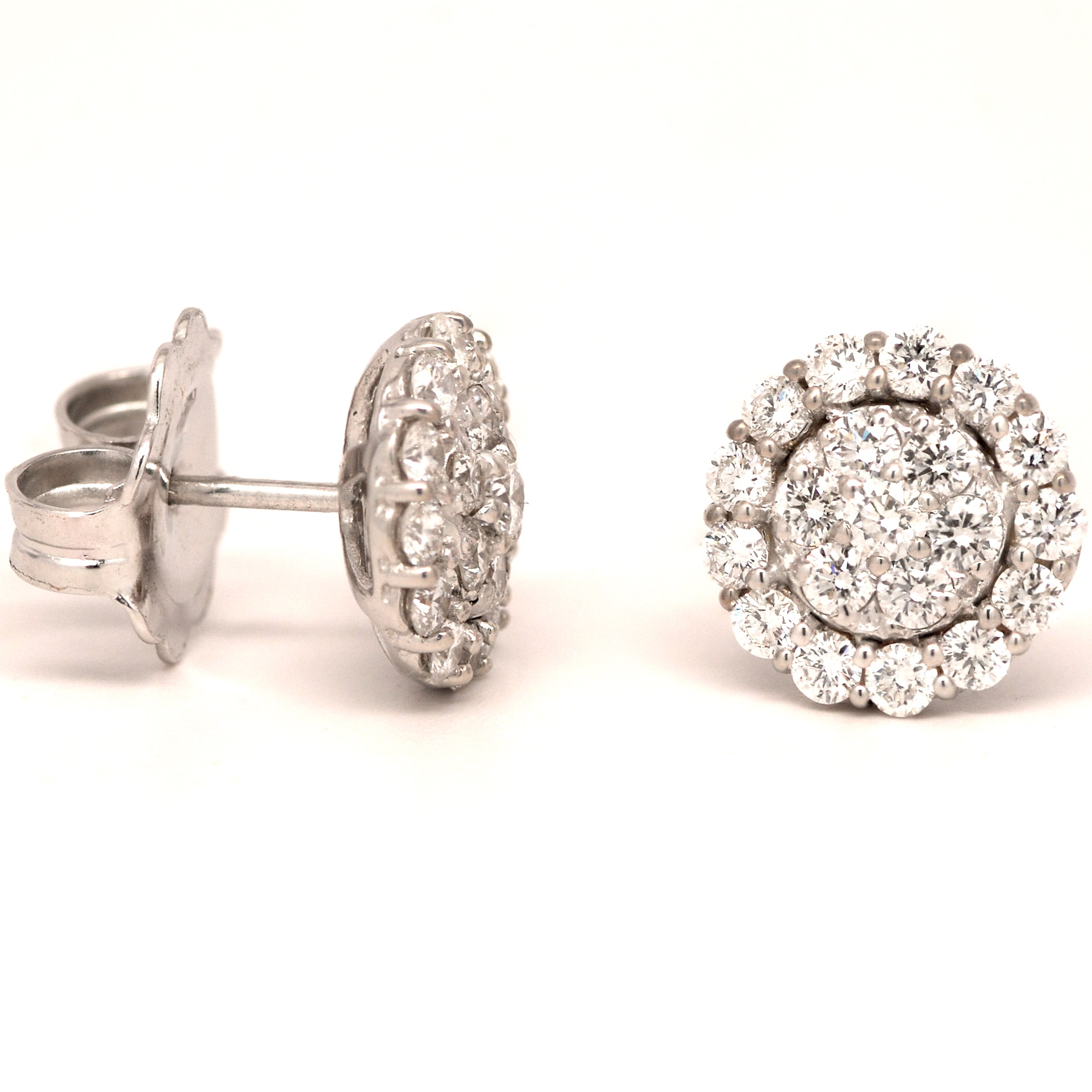 stud diamond earrings round sparkleloots products