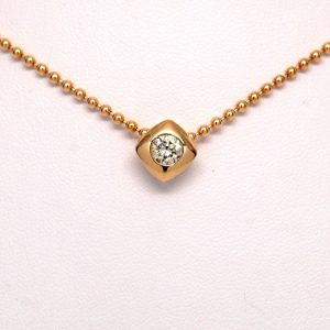 1/3ctw Round Diamond Solitaire Necklace 14k Yellow Gold