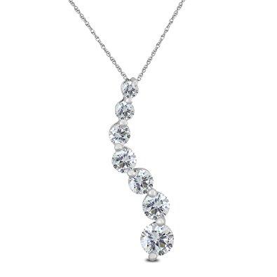 12ctw diamond journey pendant 14k white gold kappys fine jewelry 12ctw diamond journey pendant 14k white gold aloadofball Images