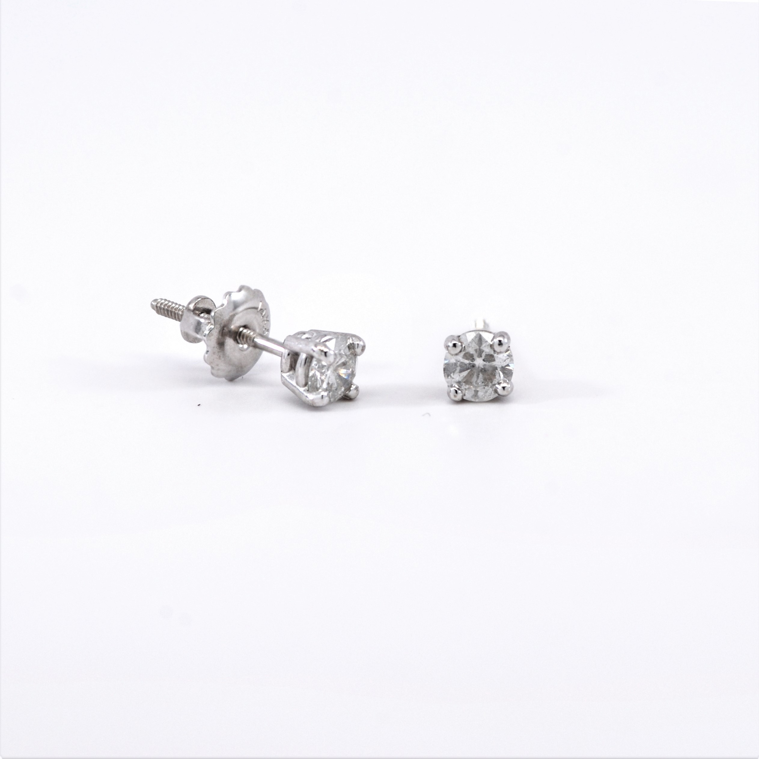jewellery gold total stud more carat diamond white views earrings