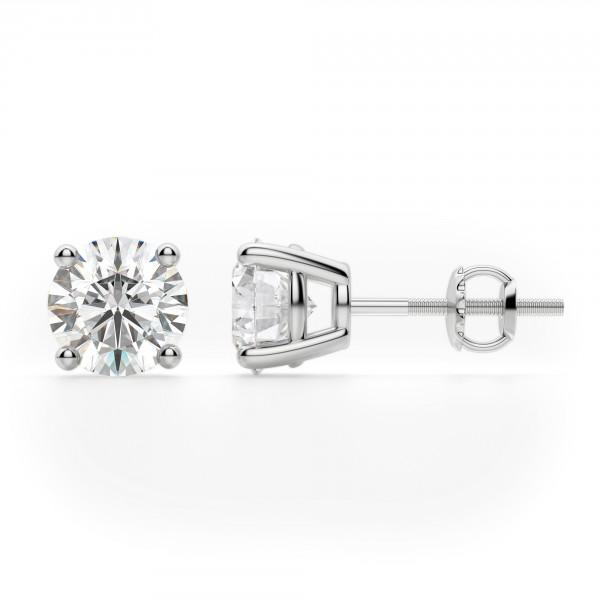 be037eadb 0.50ctw Round Diamond Stud Earrings 14k White Gold - Kappy's Jewelry
