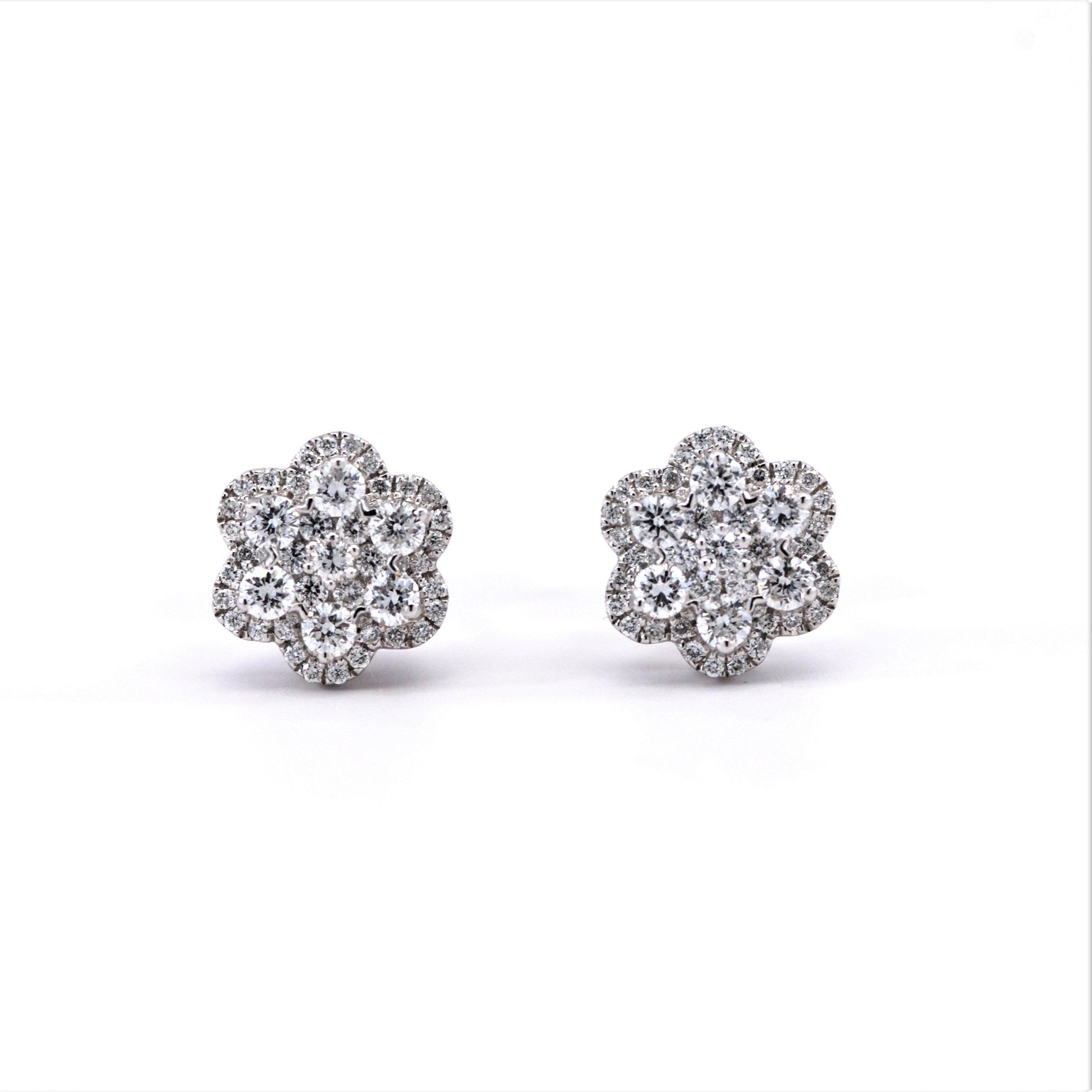 diamond product gold illusion tdw stud white earrings plate