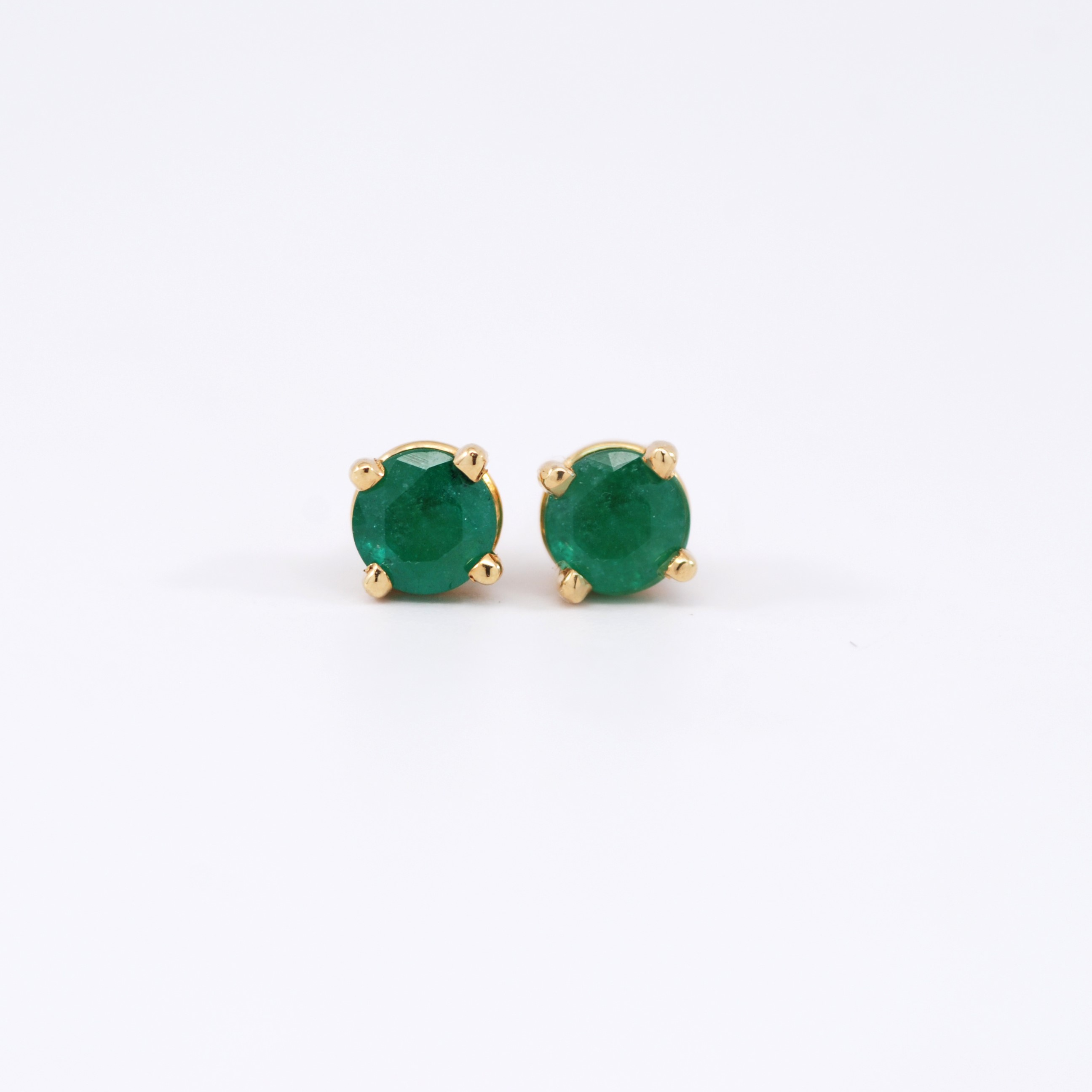 yara by shop jewellery contemporary emerald earrings angeli