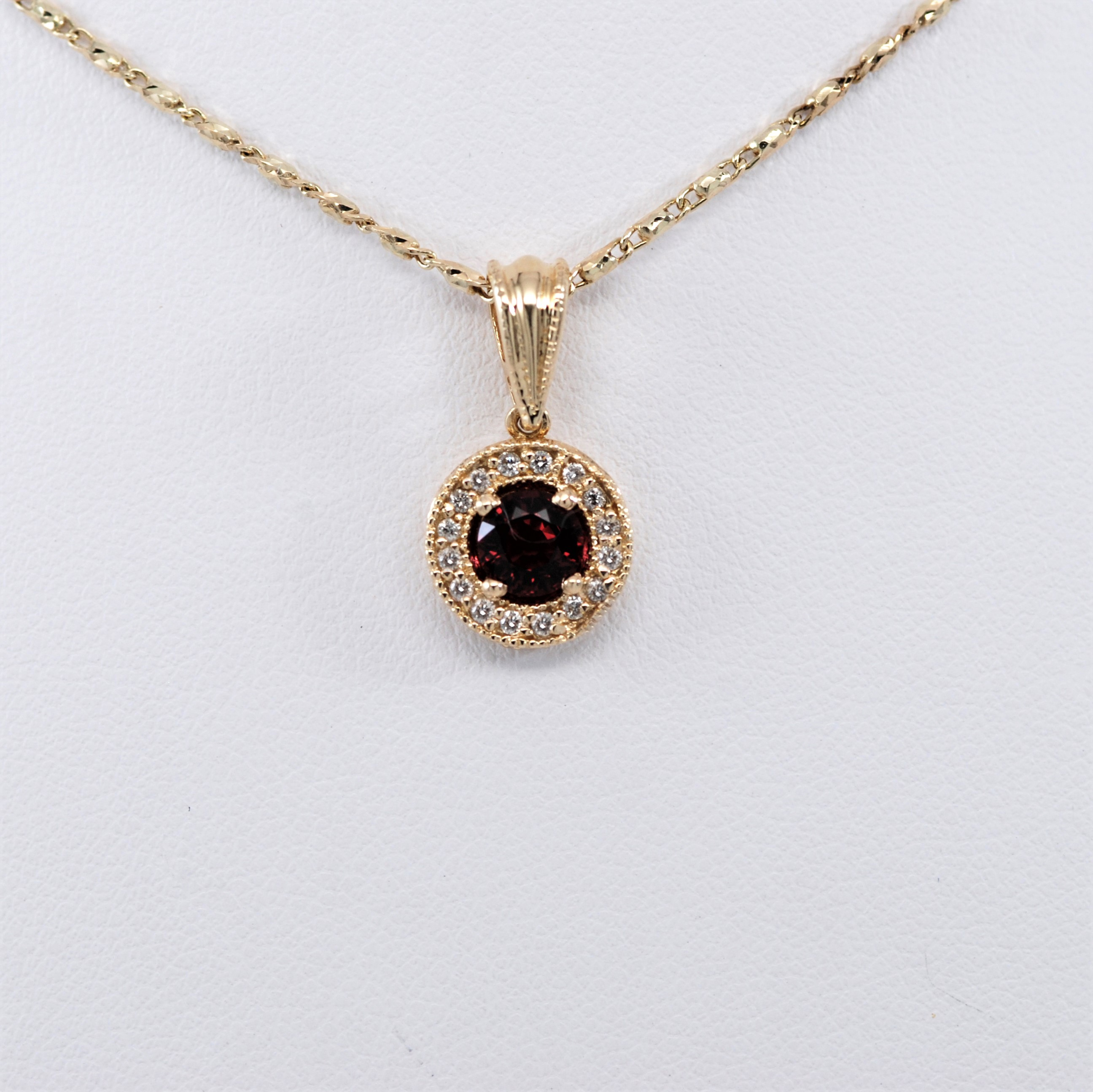 spinel gold shop pendant yellow diamond gevery red