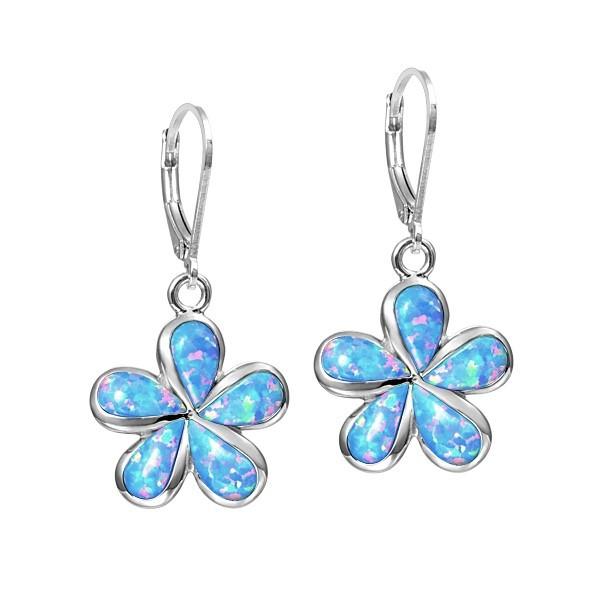 Caribbean Blue Flowering Vine Earrings